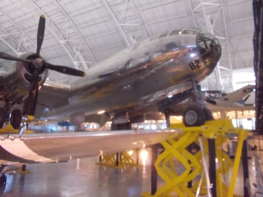 colonel tibbets- enola gay- smithsonian- stephen udvar hazy