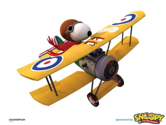 A picture of Snoopy in his Sopwith Camel