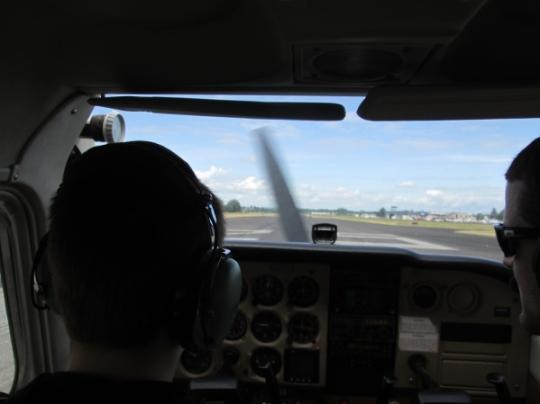 Troutdale, landing, Cessna